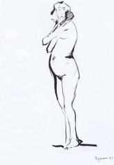 Donna in piedi 1952 china