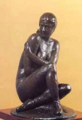 Ballerina seduta '78 bronzo h cm34