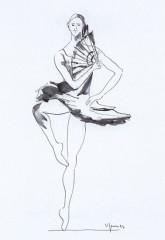 Ballerina con ventaglio 1993 china
