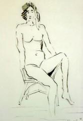Ragazza seduta 1996 matita