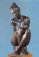 Donna con gambe incrociate '79 h cm98