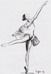 Passo di danza 1993 carboncino