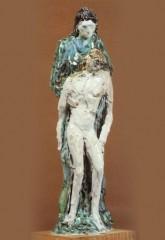 Bozzetto per pietà '51 ceramica h cm24