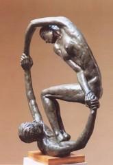 Equilibristi n°2 '87 bronzo h cm116