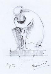 Maternità 1953 matita