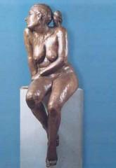 Donna seduta '78 bronzo cm 144