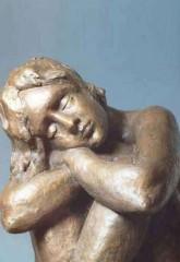 Donna che dorme '77 bronzo h cm77