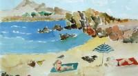 Spiaggia con ombrelloni '08 cm30x50